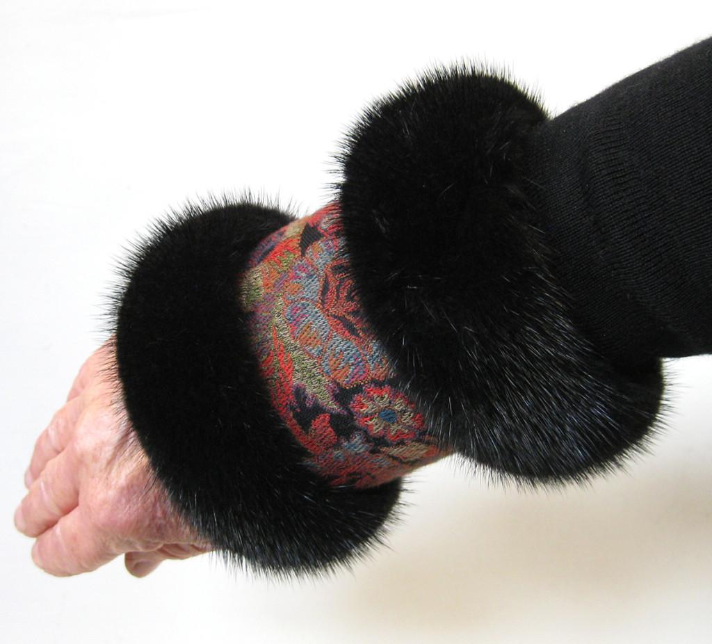 muffedisse, muffedisser, håndledsvarmer, pulsvarmer, pels, besætning, pelskant, mink, ræv, handsker,ærme, forlænger,jane eberlein, samarkanddk