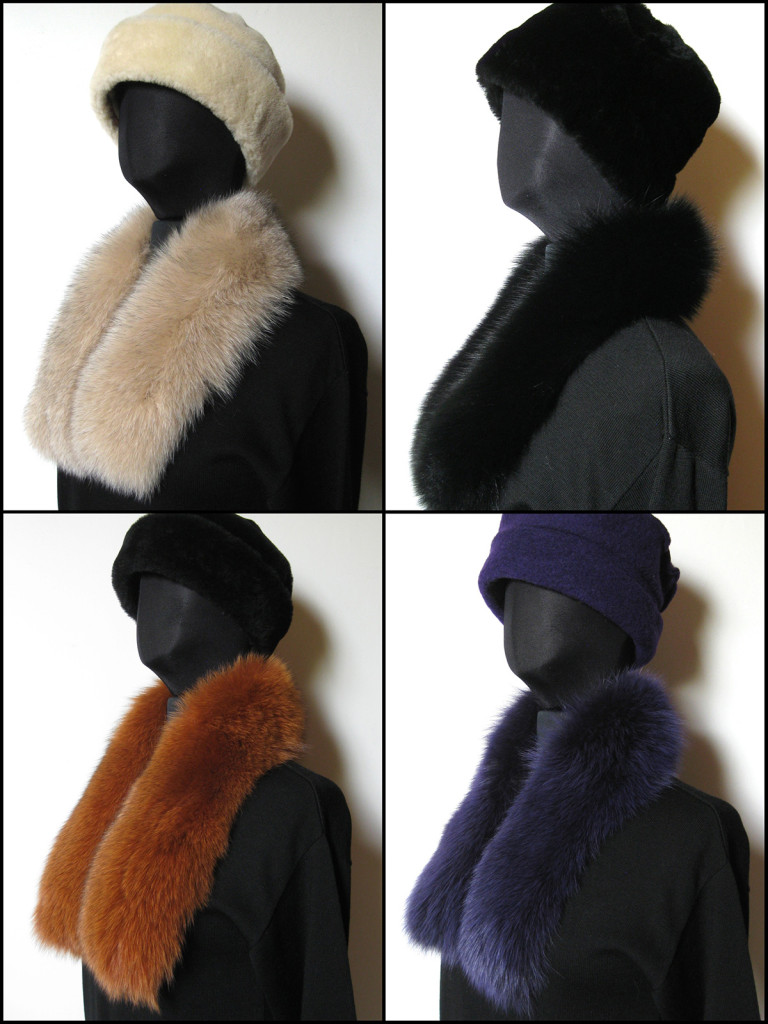 pelskraver, pelskraver, pelskrave ræv, pelskanter, pelsbesætninger, rævepels, pels tørklæder